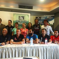 The big gang together at the press conference for #xterragreece - now I need a haircut and I am ready to go. #xterra #racing #worldtour #greece #temposport #onrunning #cannondale