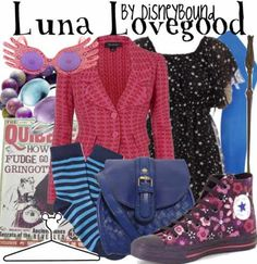 Luna Lovegood.  And there isn't a thing in there I wouldn't wear.  Together. At the same time. <3