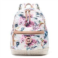 Mimco Splendiosa Backpack Pretty Backpacks, Cute Backpacks For School, Mimco Bag, Fashion Bags, Fashion Backpack, Minimalist Bag, Flower Bag, Camping Style, Backpack Bags