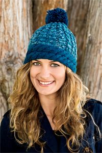 On the Slopes Hat - Knitting pattern from Winter 2013 Love of Knitting