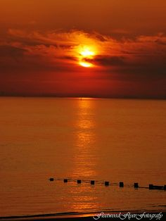 SUNSET AT ROSSALL POINT - JPG Photos