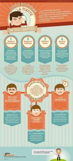 Cómo dominar la mente de tus clientes #infografia #infographic #marketing