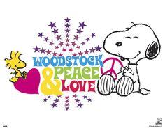 Peanuts Woodstock Peace and Love