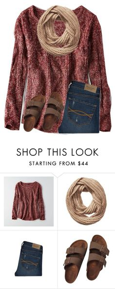 """""""Y'all doing anything for thanksgiving?"""" by ponyboysgirlfriend ❤ liked on Polyvore featuring American Eagle Outfitters, Vincent Pradier, Abercrombie & Fitch and Birkenstock"""