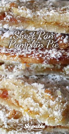Sheet Cake Pumpkin Pie. Quick and easy to make using Pumpkin Pie Filling and Pillsbury Refrigerated Pie Crust @Stepable #recipes