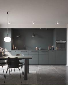 Mere plads i køkkenet - copper kitchen Modern Kitchen Interiors, Modern Kitchen Design, Interior Design Kitchen, Kitchen Decor, Modern Grey Kitchen, Kitchen Tile, Kitchen Ideas, Luxury Kitchens, Home Kitchens