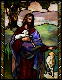 Google Image Result for http://www.aboutstainedglass.com/wp-content/uploads/2012/02/Christ-and-the-Lamb-2.jpg