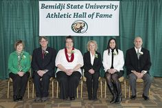The 2014 Athletic Hall of Fame induction class. Sue Engel, Stephen Boss, Patti Zwiers, Jayne Dusich, Mary Gergen and Duane Sorenson.