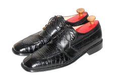 Stacy Adams Men's Black Leather & Genuine Snake Split Toe Oxford Shoe Size 11 M #StacyAdams #SplitToeOxford