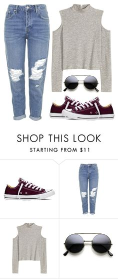 """Untitled #298"" by fashionloveandinspiration ❤ liked on Polyvore featuring Converse and Topshop"