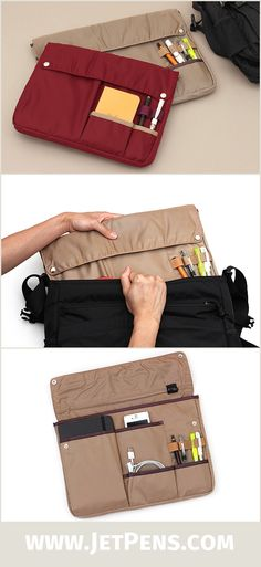 The new Kokuyo Bizrack Bag in Bags are great for organizing your life! Instead of tossing everything into your backpack, neatly tuck your everyday essentials into various pockets and compartments.