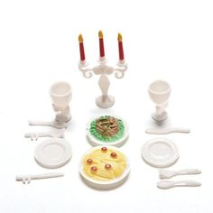 2016 HOT 13 Pcs/set Candlelight Dinner for Barbies Mini Tableware Candle Wineglass Mini Simulation tableware dolls Kitchen