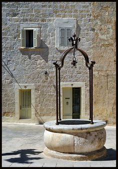 ancient well, old city of Mdina, Malta