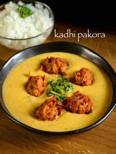 kadhi recipe | punjabi kadhi recipe | kadhi pakora recipe | kadi pakoda - http://hebbarskitchen.com/punjabi-kadhi-pakora-recipe-kadi-pakoda/