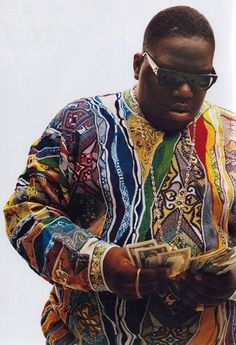 Biggie and Coogi's Cosby sweater