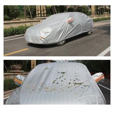 88.06$  Buy here - http://aliyds.worldwells.pw/go.php?t=32678645714 - Silver Car Cover Heatproof Waterproof Double Stitched For Ford Hyundai Audi Hyundai Chevy Chevrolet Honda