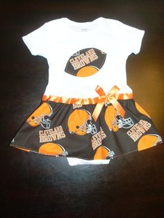 Cleveland Browns Inspired Baby Dress