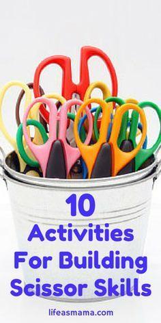 10 Activities For Building Scissor Skills Cutting Activities, Motor Activities, Preschool Activities, Dementia Activities, Physical Activities, Preschool Learning, Teaching, Early Learning, Scissor Skills