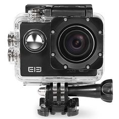 MGcool EleCam Explorer 4K WiFi Waterproof Action Camera Sports Underwater Camcorder with Free Accessories Kit for Bicycle Motorcycle Diving Swimming - Black * Check out the image by visiting the link.