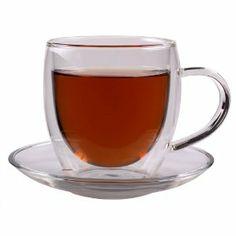 """Feelino 250ml """"Bullini"""" doppelwandige Thermotasse mit Untersetzer - edle Glas-Teetasse / Kaffeetasse mit Schwebeeffekt, Henkel und Untersetz..."""