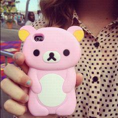 Cute bear iphone case !!