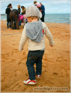 skinny jeans. hoodie. and beanie. I can't wait to dress my son. :)