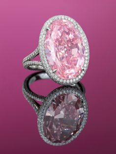 💖 50 Fancy Pink Diamond Jewelry Pieces From The Private Collection White Gold Wedding Rings, Diamond Wedding Rings, White Gold Rings, Diamond Engagement Rings, Solitaire Engagement, Wedding Bands, Pink Diamond Jewelry, Pink Jewelry, Sapphire Jewelry