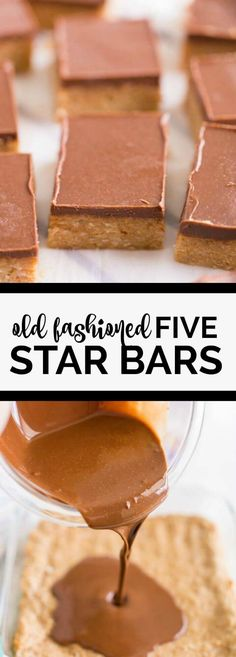 Old Fashioned Five Star Bars via (homemade fudge brownies easy) Candy Recipes, Sweet Recipes, Baking Recipes, Cookie Recipes, Dessert Recipes, Bar Recipes, Baking Tips, Cookie Desserts, Recipes
