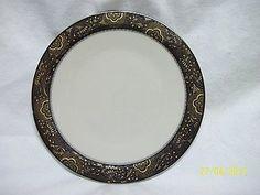 Franciscan Nouvelle Ebony Dinner Plate Vintage USA Dinnerware Pattern