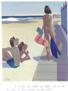 Illustration by Edmond Kiraz (b.1923), Les Parisiennes, Jours de France.