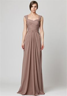 Love, love this bridesmaid dress. Floor length but NOT strapless.