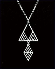 Frank Lloyd Wright Desert Triangles Necklace