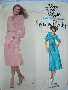 REDUCED  Vintage  Vogue Diane Von Furstenberg by ProctorCreations, $40.00