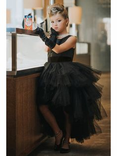 6bc3c2ed53f Tip Top Kids 5658 Ruffled Tulle High Low Dress