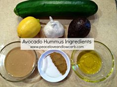 Missing hummus? I bet this Avocado Keto Hummus will fool even the most refined of palates. Sugar Free Recipes, Gf Recipes, Low Carb Recipes, Real Food Recipes, Healthy Recipes, Healthy Foods, Low Carb Hummus, Dairy Free, Gluten Free