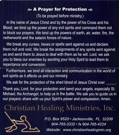 A Prayer for Protection – from Christian Healing Ministries, DR. Healing Ministries, Prayer For Protection, Prayers For Healing, Outdoor Wedding Decorations, Evil Spirits, Christian Art, Faith Quotes, Scriptures, Ministry