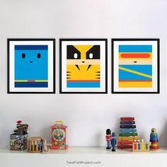 Wolverine X-men Poster for Nursery Cute por TwoFishProject en Etsy