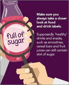 Check labels to ensure you're not taking in more sugar than you think you are. #dentistry