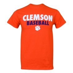 Clemson Tigers Orange Baseball T-Shirt Clemson Baseball, Baseball Helmet, Twins Baseball, Chicago Cubs Baseball, Clemson Tigers, Baseball Shirts, Tigers Baseball, Baseball Bats, Tiger Clothing