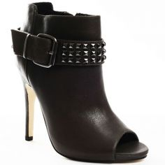 SALE - Womens Dolce Vita Cooper Stiletto Heels Black Leather - Was $128.99 - SAVE $39.00. BUY Now - ONLY $90.29