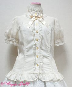 Angelic Pretty – Romantic bustier Style Short Sleeved Blouse « Lace Market: Lolita Fashion Sales and Auctions