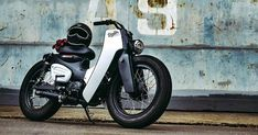 "bike-exif: ""This killer custom Honda Super Cub was built by to celebrate the 2018 model's launch in Thailand. See more at. Motos Honda, Honda Motorcycles, Custom Motorcycles, Custom Bikes, Honda Motorbikes, Retro Bike, Retro Motorcycle, Motorcycle Design, Motorcycle Bike"