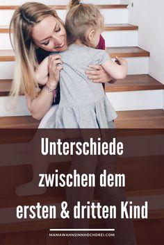 Unterschiede zwischen dem ersten und dem dritten Kind. Ja, es gibt sie: Schwangerschaft, Stillen, Süßigkeiten.... MamaWahnsinnHochDrei
