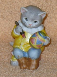 Vintage Kitty Cucumber Albert painting Easter Egg new no box by Catloversdream on Etsy