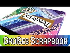 How to: Trash Scrapbook als Art Journal mit Karten | Großes Album Tutorial + Vorlage | kreativbunt - YouTube