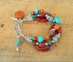 Boho Bracelet Southwest Jewelry Turquoise Jewelry by BohoStyleMe