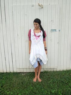 oversized romantic Upcycled clothing / Patchwork by CreoleSha, $94.00