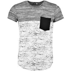 Boohoo Space Panel Pocket T Shirt   Boohoo ($14) ❤ liked on Polyvore featuring men's fashion, men's clothing, men's shirts, men's t-shirts, shirts, men, mens panel shirts, mens cotton shirts, mens pocket t shirts and mens t shirts