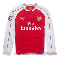 Camiseta manga larga Arsenal 2015 2016 primera 0094f431228a9