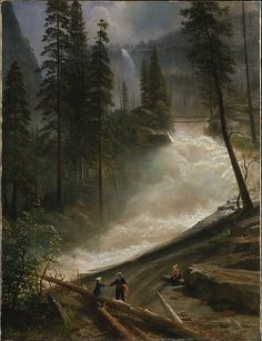 Nevada Falls, Yosemite  Albert Bierstadt  (American, Solingen 1830–1902 New York City)